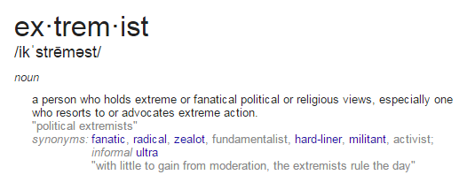 Awesome Extremist Definition Challenging The Rhetoric