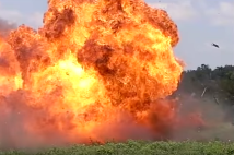 IMAGE SOURCE: Screencaps of 5-pound Tannerite explosion on YouTube